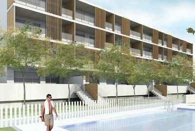 Новые трехспальные квартиры с бассейном в городе Sitges, у моря